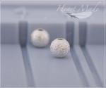Металлическая бусина - Снежок 1