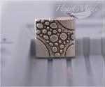 Металлическая бусина - Квадратик (плоская)