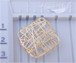 Металлическая бусина - Квадратик-паутинка